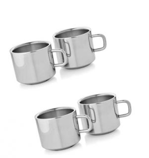 Buy Dynamic Store Set of 2 Double Wall Tea Cups online