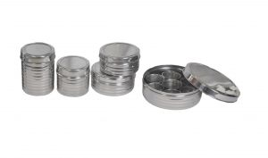 Buy Dynamic Store 5 PCs Stainless Steel Kitchen Storage Utility Set With Spice Box - Ds_406 online