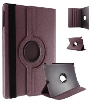 Buy Pu Leather Full 360 Degree Rotating Flip Book Case Cover Stand For Ipad Air 5 (brown) online
