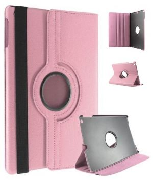 Buy Pu Leather Full 360 Degree Rotating Flip Book Case Cover Stand For Ipad Air 5 (light Pink) online