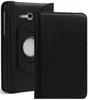 Buy Pu Leather 360 Deg Rotatable Leather Flip Case Cover For Samsung Tab 3 Neo T111 T110 Tablet (black) online