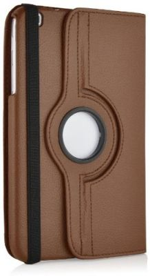 Buy Pu Leather Full 360 Rotating Flip Book Cover Case Stand For Samsung Galaxy Tab 3 T311 (brown) online