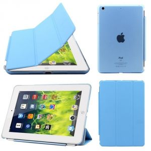 Buy Ultra Thin Magnetic Smart Case Clear Back Cover Stand For Apple Ipad Mini 2 Retina (sky Blue) online