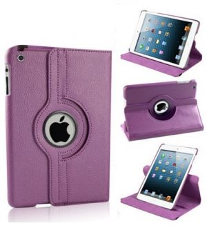 Buy Pu Leather 360 Degree Rotating Leather Case Cover Stand (violet) For Ipad Mini 2 Retina online