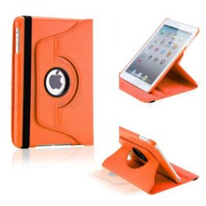 Buy Pu Leather Full 360 Degree Rotating Flip Book Case Cover Stand For Ipad 4 Ipad 3 Ipad 2 (orange) online