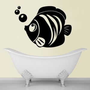 Buy Decor Kafe Decal Style Fish And Bubbles Medium Wall Sticker online