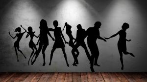 Buy Decor Kafe Decal Style Dancing Peoples Wall Sticker online