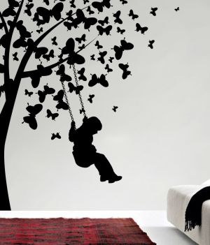 Buy Decor Kafe Decal Style Boy Under Tree Wall Sticker online