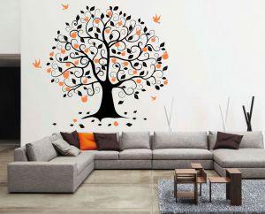 Buy Decor Kafe Decal Style Birds On Tree Wall Sticker online