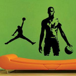Buy Decor Kafe Decal Style Basketball Men Wall Sticker online