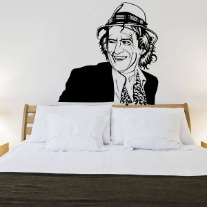 Buy Decor Kafe Decal Style Keith Richards Wall Sticker online