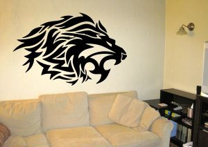 Buy Decor Kafe Decal Style Lion Roars Wall Sticker online
