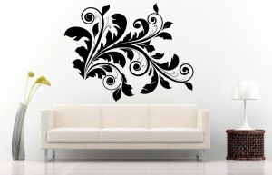 Buy Decor Kafe Decal Style Floral Wall Sticker online