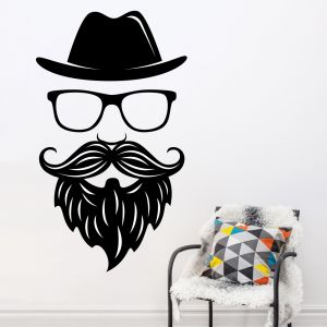 Buy Decor Kafe Decal Style Face Wall Sticker online