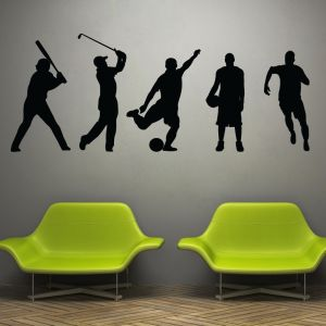 Buy Decor Kafe Decal Style Players Wall Sticker online