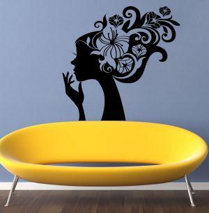 Buy Decor Kafe Decal Style Swirl Lady Wall Sticker online