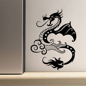 Buy Decor Kafe Decal Style Dragon Wall Sticker online