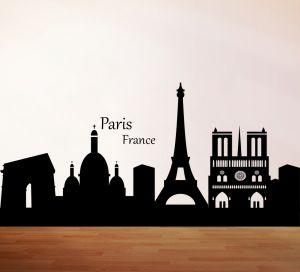 Buy Decor Kafe Decal Style City Of Paris Wall Sticker online