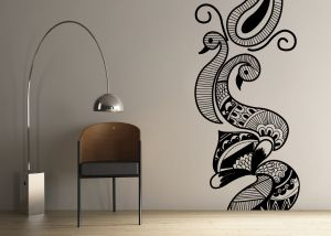 Buy Decor Kafe Decal Style Creative Peacock Wall Sticker online