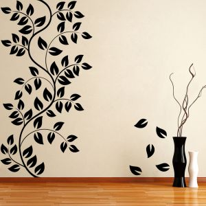 Buy Decor Kafe Decal Style Leaf Floral Wall Sticker online