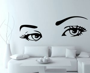 Buy Decor Kafe Decal Style Creative Eyes Wall Sticker online