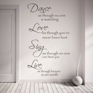 Buy Decor Kafe Decal Style Dance Love Sing Live Wall Sticker online
