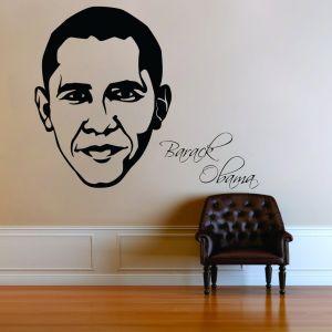 Buy Decor Kafe Decal Style Barack Obama Wall Sticker online