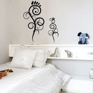 Buy Decor Kafe Decal Style Floral Design Wall Sticker online