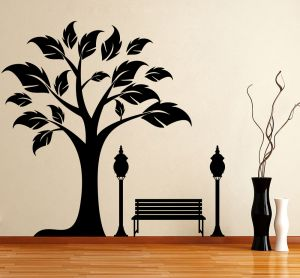 Buy Decor Kafe Decal Style Tree Side Wall Sticker online