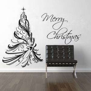 Buy Decor Kafe Decal Style Merry Christmas Wall Sticker online