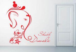 Buy Decor Kafe Decal Style Shubh Diwali Wall Sticker online