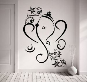 Buy Decor Kafe Decal Style Creative Ganesha Wall Sticker online
