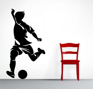 Buy Decor Kafe Decal Style Men Hitting Ball Medium Wall Sticker online