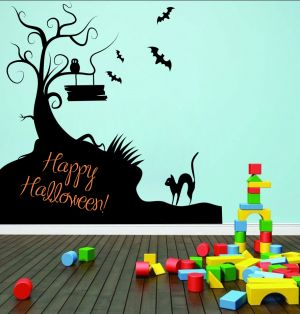 Buy Decor Kafe Decal Style Happy Halloween Wall Sticker online