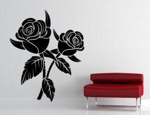 Buy Decor Kafe Decal Style Black Rose Wall Sticker online