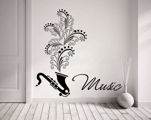Buy Decor Kafe Decal Style Music Wall Sticker online