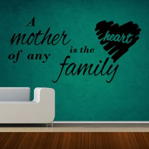Buy Decor Kafe Decal Style Mother Is The Heart Small Wall Sticker online