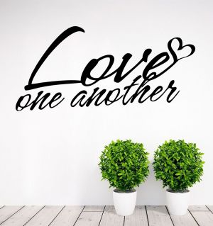 Buy Decor Kafe Decal Style Love One Another Small Wall Sticker online