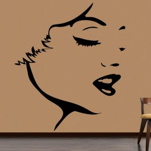 Buy Decor Kafe Decal Style Face Outline Medium Wall Sticker online