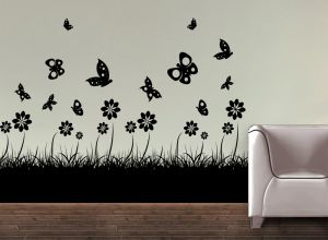 Buy Decor Kafe Decal Style Butterflies Wall Sticker online