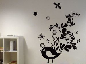 Buy Decor Kafe Decal Style Creative Sparrow Wall Sticker online