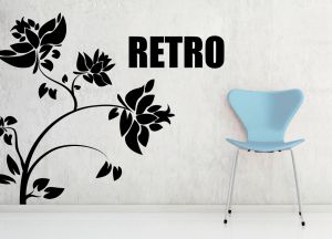 Buy Decor Kafe Decal Style Retro Flower Wall Sticker online
