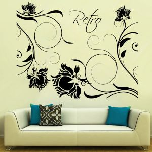 Buy Decor Kafe Decal Style Retro Roses Wall Sticker online