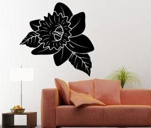 Buy Decor Kafe Decal Style Black Rose Large Wall Sticker online