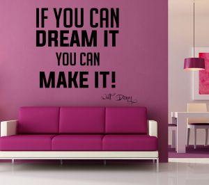 Buy Decor Kafe Decal Style Dream Make It Wall Sticker online