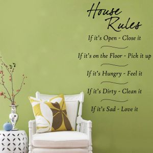 Buy Decor Kafe Decal Style House Rules Wall Sticker online