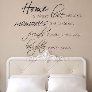 Buy Decor Kafe Decal Style Memories Friends Laughter Wall Sticker online