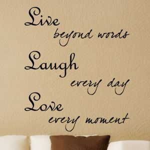 Buy Decor Kafe Decal Style Live Laugh Love Wall Sticker online
