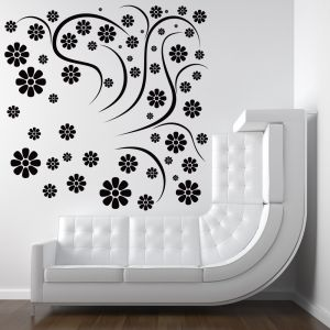 Buy Decor Kafe Decal Style Rounded Flowers Wall Sticker online