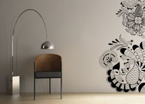 Buy Decor Kafe Decal Style Peacock Pattern Wall Sticker online